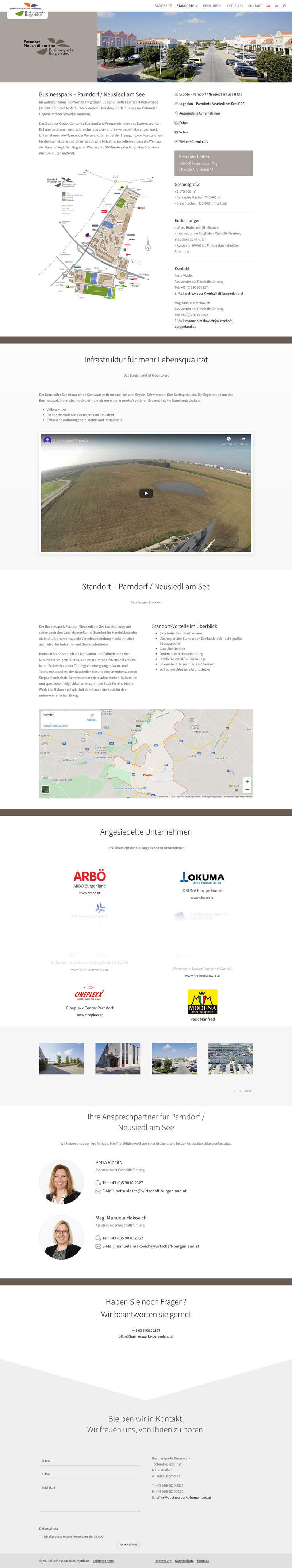 webdesign business parks Burgenland